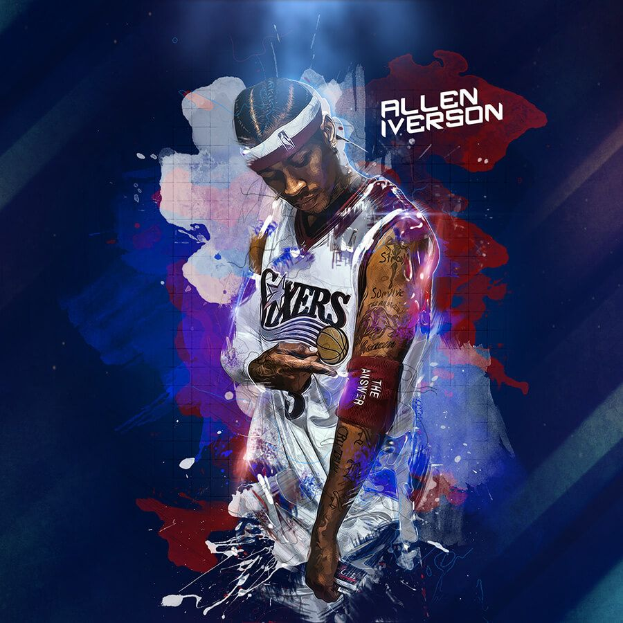 Nba Paula Stopka Allen Iverson Nba Basketball Art Iverson Wallpaper
