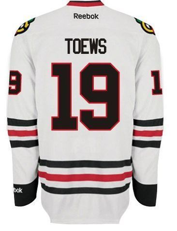 new style a0617 108fb Reebok EDGE Authentic Chicago Blackhawks Jonathan Toews ROAD ...