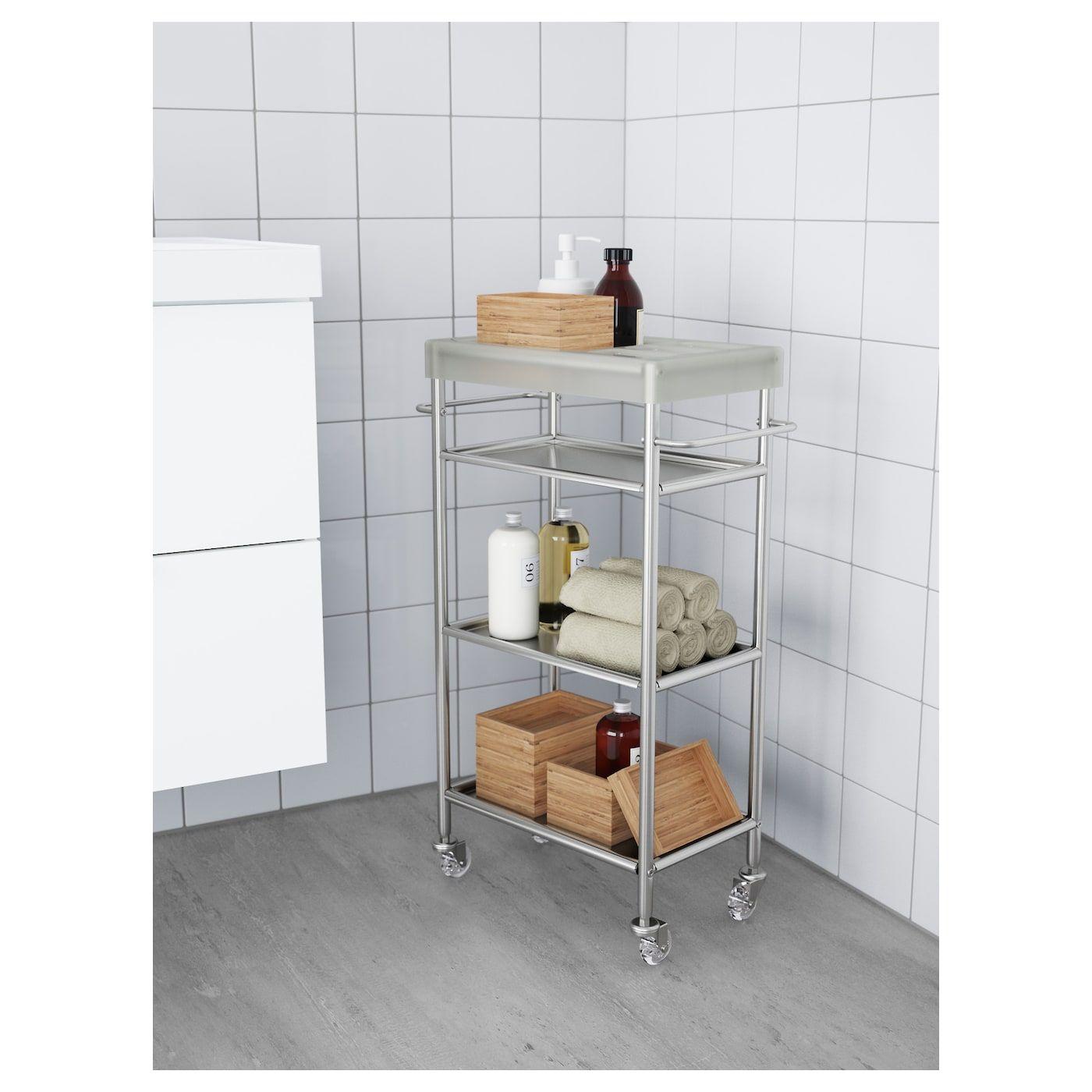Grundtal Cart Stainless Steel 18 7 8x9 1 2x30 3 8 Ikea Acier Inox Ikea Inox