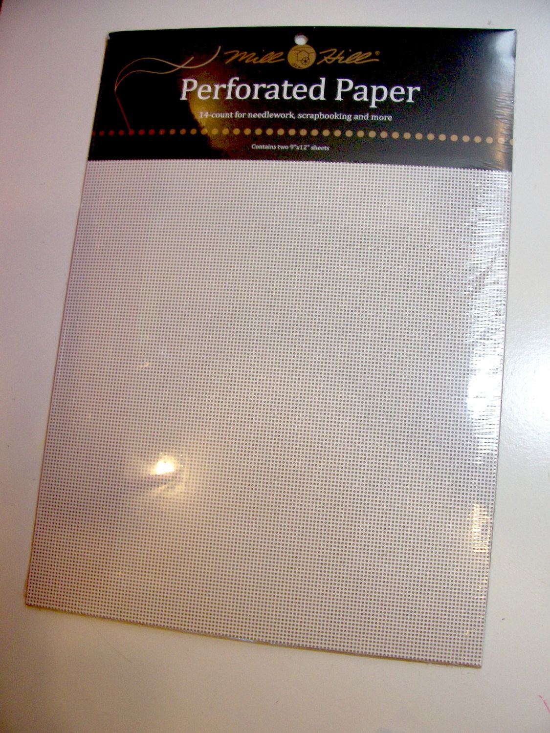 Mill Hill Perforated Paper for Needlework WI, White Perforated Paper, 14 count, 9 x 12 inch, 2 Sheets by GriffithGardens on Etsy