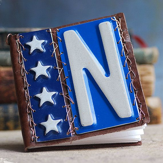 leather journal with a letter N...   book... May 10 by CoolVintage, $25.50