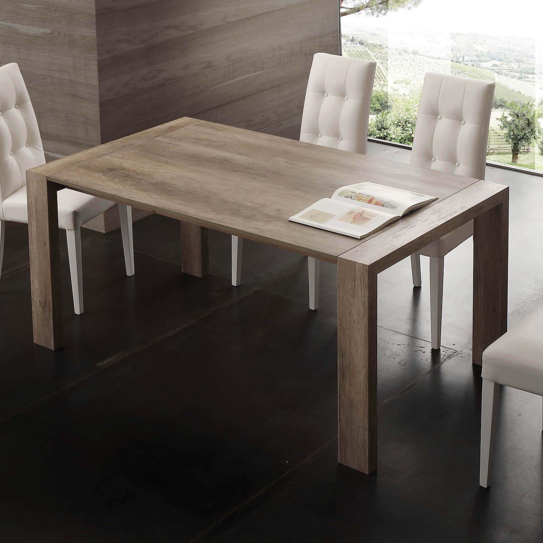 Tavolo allungabile moderno in legno 140 o 160 cm Alwin