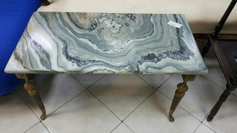 Tavolino Salotto Verde : Tavolino salotto ottone marmo verde arredamento sala nel 2018