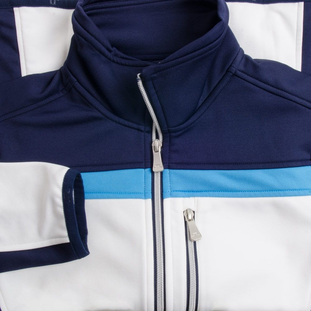 J.Lindeberg Huxley Jacket Navy Purple Available at TrendyGolf $192
