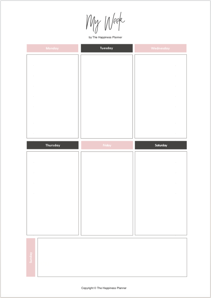 Free Printable Meal Planner Template Paper