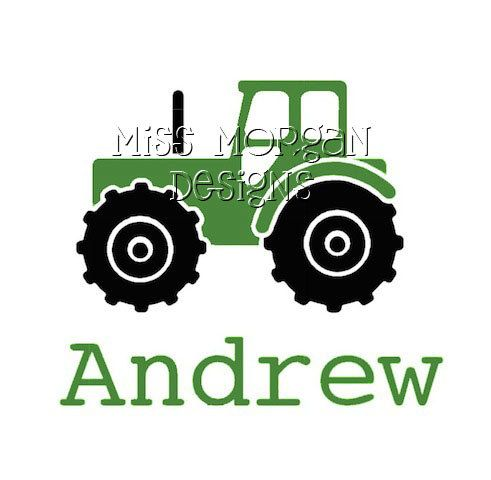 Personalized tractor iron on decal vinyl for shirt 7 00 via etsy
