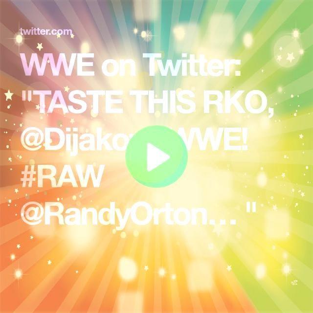 on Twitter TASTE THIS RKO DijakovicWWE RandyOrton WWE on Twitter TASTE THIS RKO DijakovicWWE RandyOrton  Watch WWE RAW Full Show 4th November 2019 Watch WWE RAW Full Show...