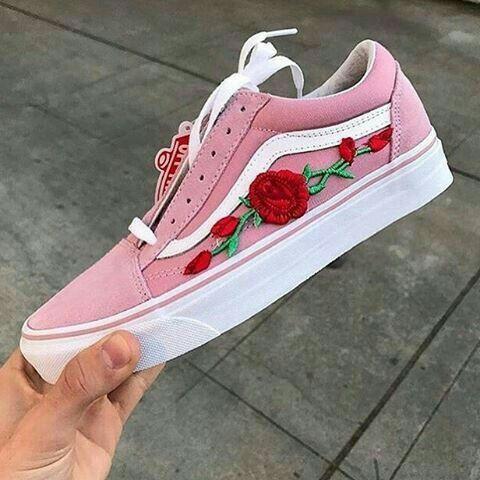 vans creepers pink