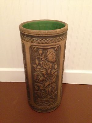 Antique American Art Pottery Umbrella Stand Unmarked