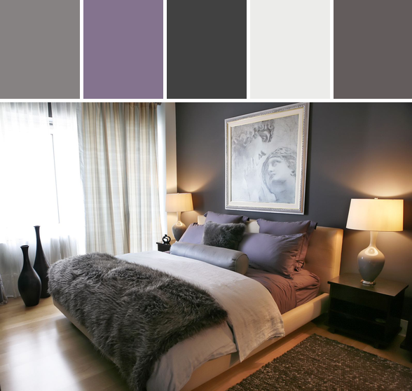 Purple And Gray Bedroom Designed By Allmodern Via Stylyze Home
