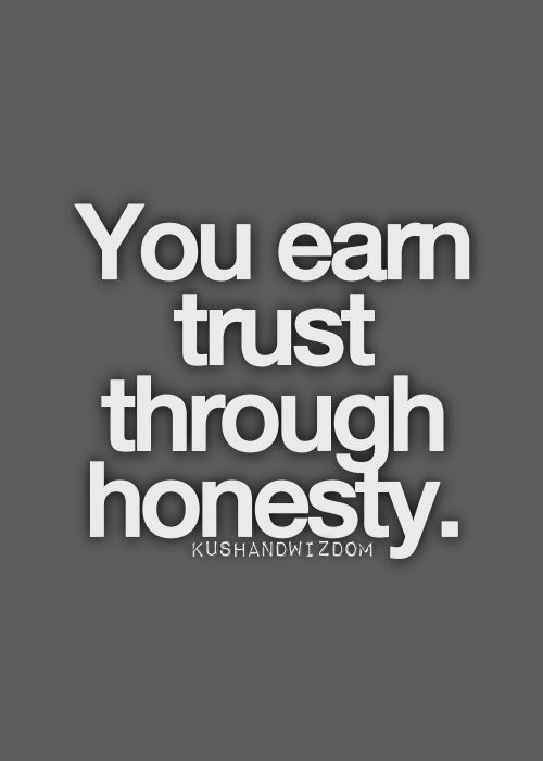 That Simple Just Keep Being Honest Trust In Relationships Great Words Words
