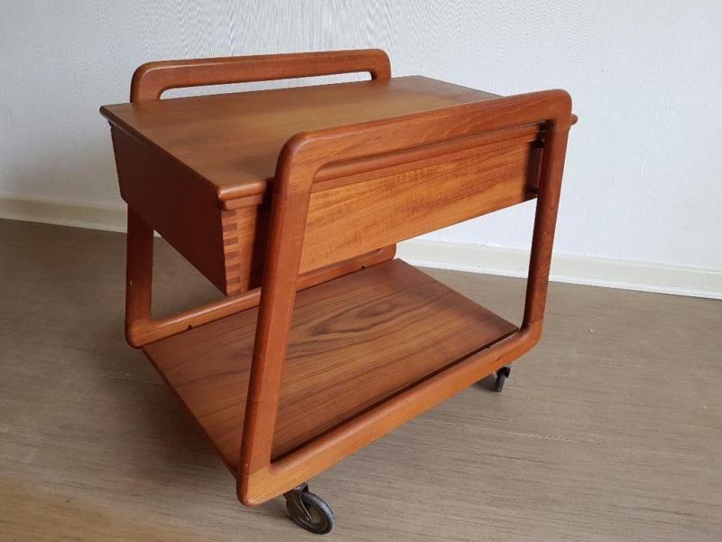 Teewagen Servierwagen zum ausziehen, danish design,midcentury ...