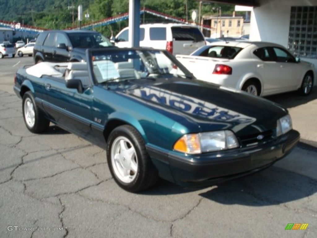 1991 Mustang Wallpaper Dark Emerald Green Ford Lx 50 Convertible 51425141 Pict