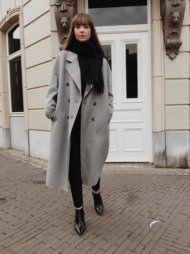Black And Grey Grey Coat Outfit Oversized Coat Outfit Coat Outfit Casual