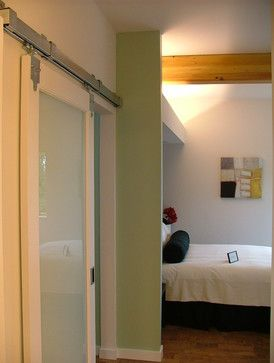 Green Cubed Modern Bedroom Photos Sliding Bathroom Doors Glass Barn Doors Sliding Doors Interior