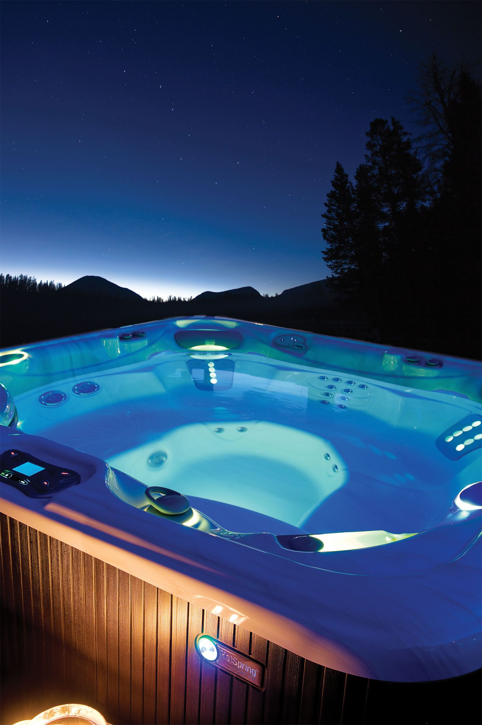 Enjoy stargazing from the comfort of your hot tub! Bright hot tub ...