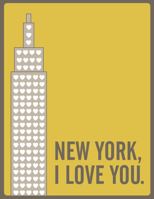 New York, I love you,....