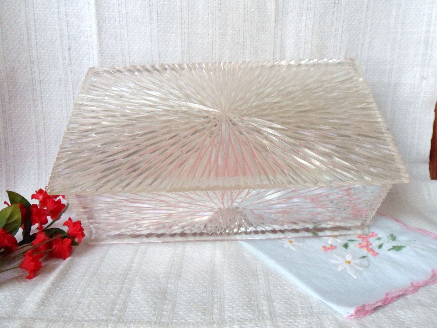Lucite Jewelry Box Carved Lucite Celebrity Jewelry Box Starburst