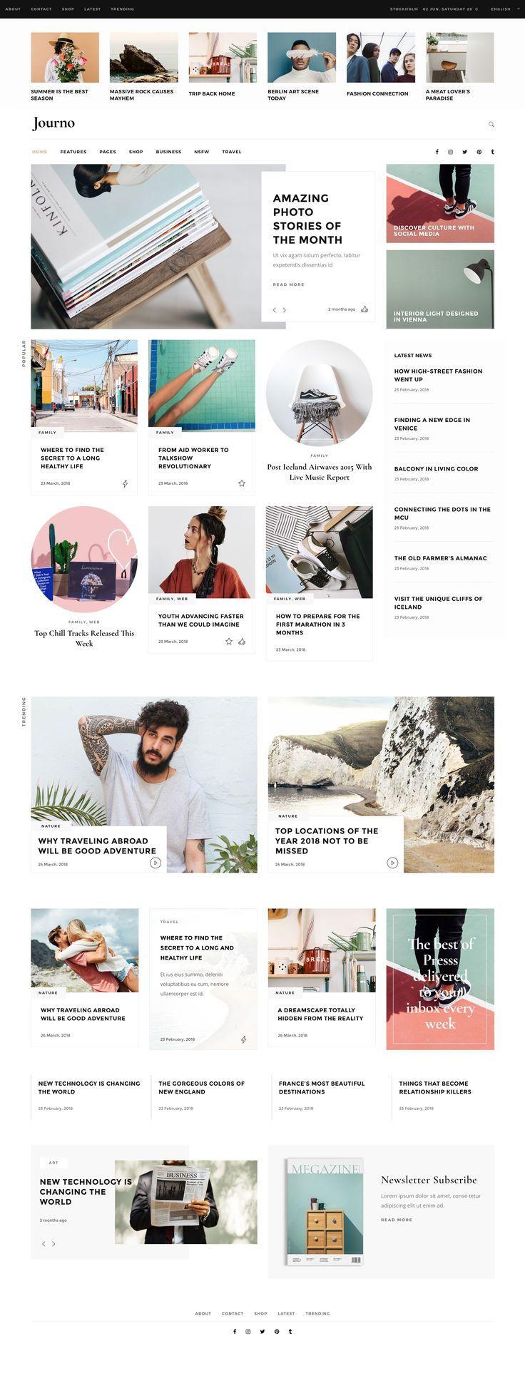 Photo of Trendy Online Magazine Website Layout. Fashion, Gossip, Home, Decor, Lifestyle, …