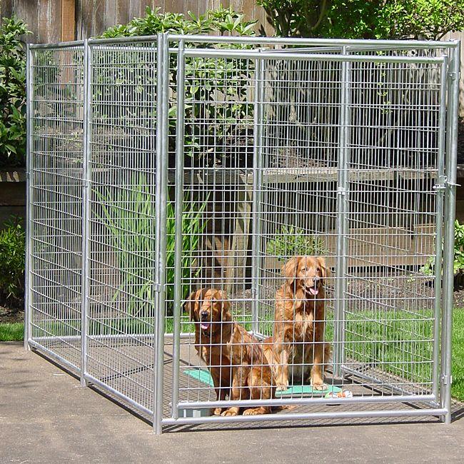 Lucky Dog 6x10 Foot Galvanized Welded Wire Kennel Dog