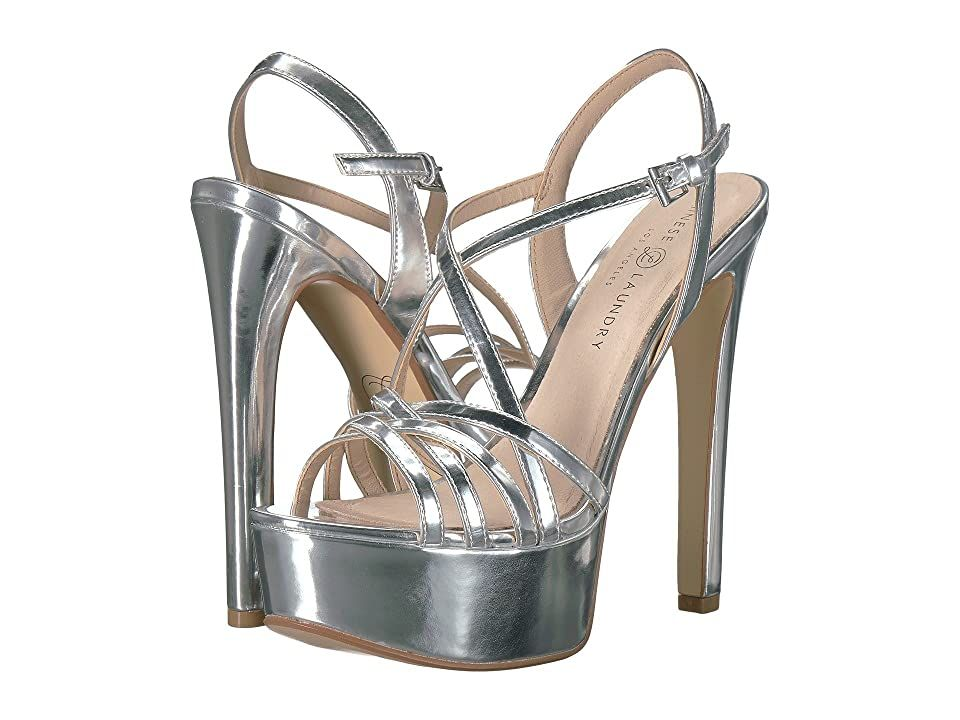 Chinese Laundry Teaser Silver Mirror High Heels Stand Out From The Crowd When You Elevate Your Fierce Look With The C In 2020 Stiletto Heels Silver High Heels Shoes