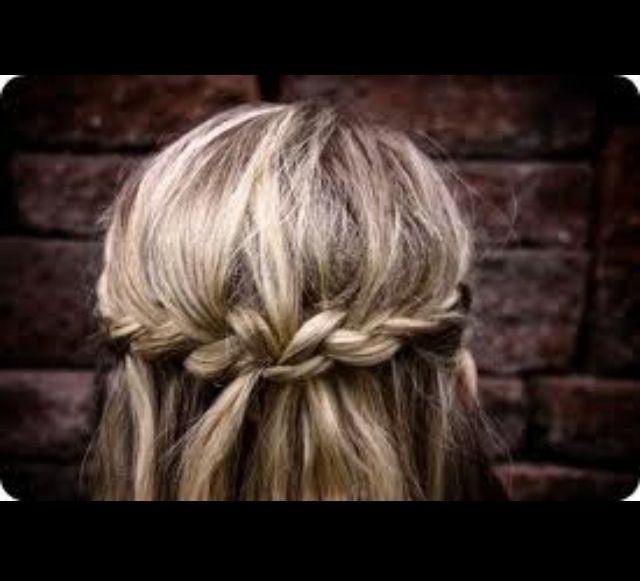 Hair down & a braid