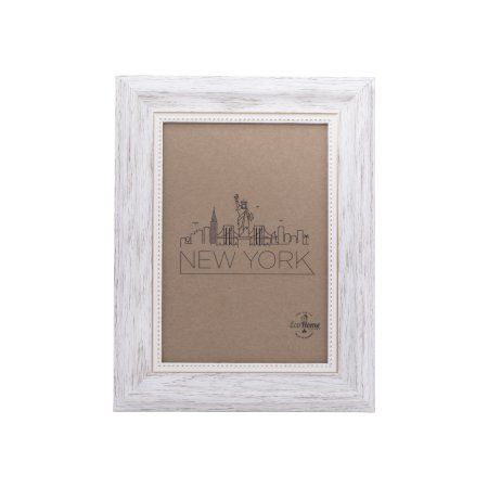 5x7 Picture Frame White / Gold - Mount the Photo on the Wall or ...