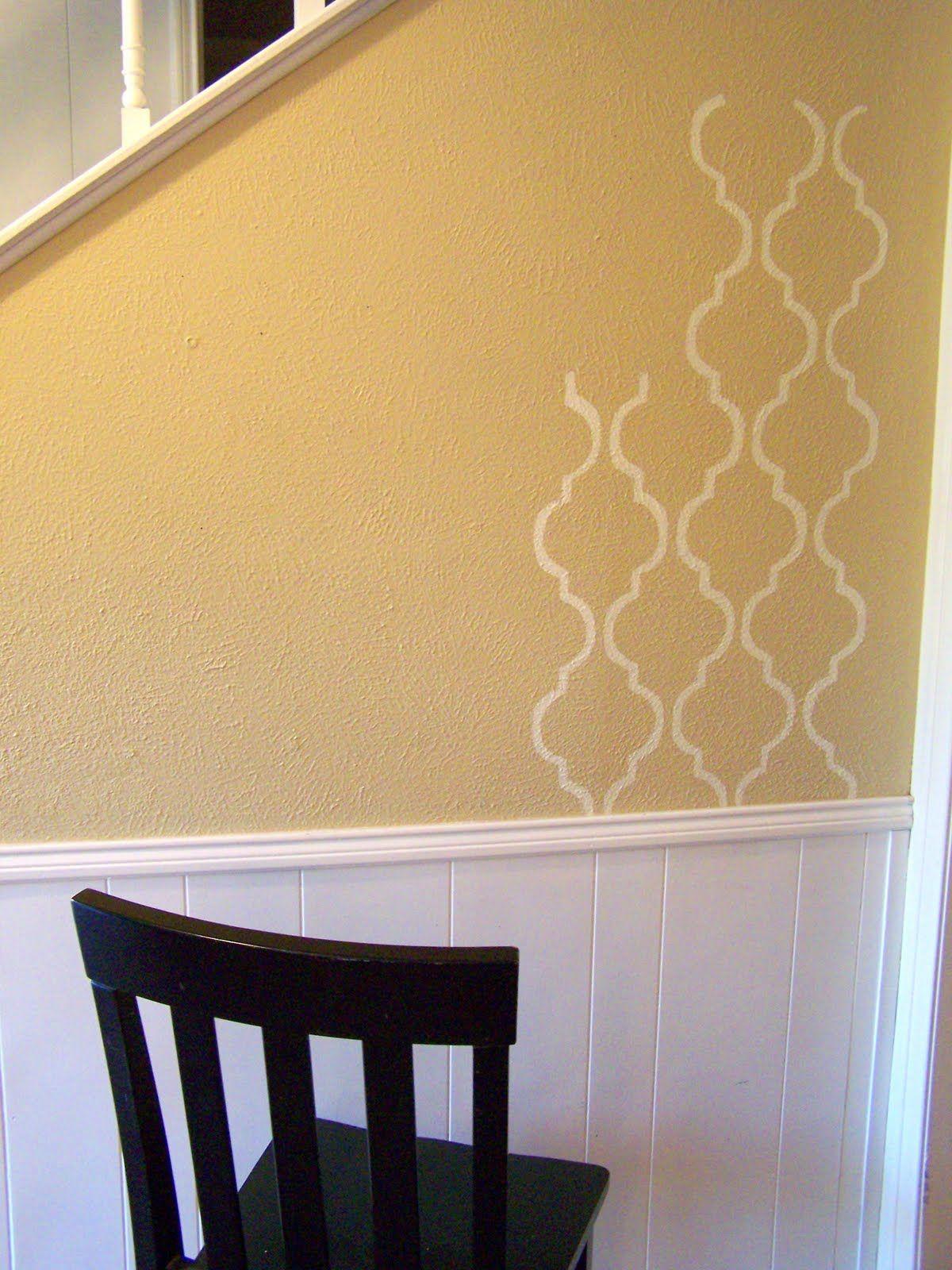Idiot Proof) Painted Wallpaper w/ DIY stencil | PAINT IT | Pinterest ...