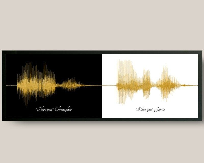 I Love You Voiceprint First Anniversary Paper Gift For Him Her Artsy