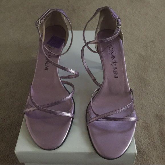 Authentic Yves Saint Laurent Ysl Sandals Ysl Sandals