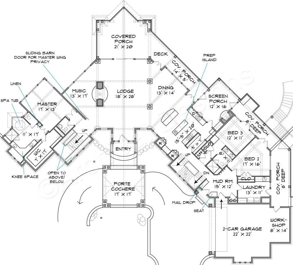 Great Lake Burton Lodge House Plan   Best Selling Floor   House Plan   Plan Image