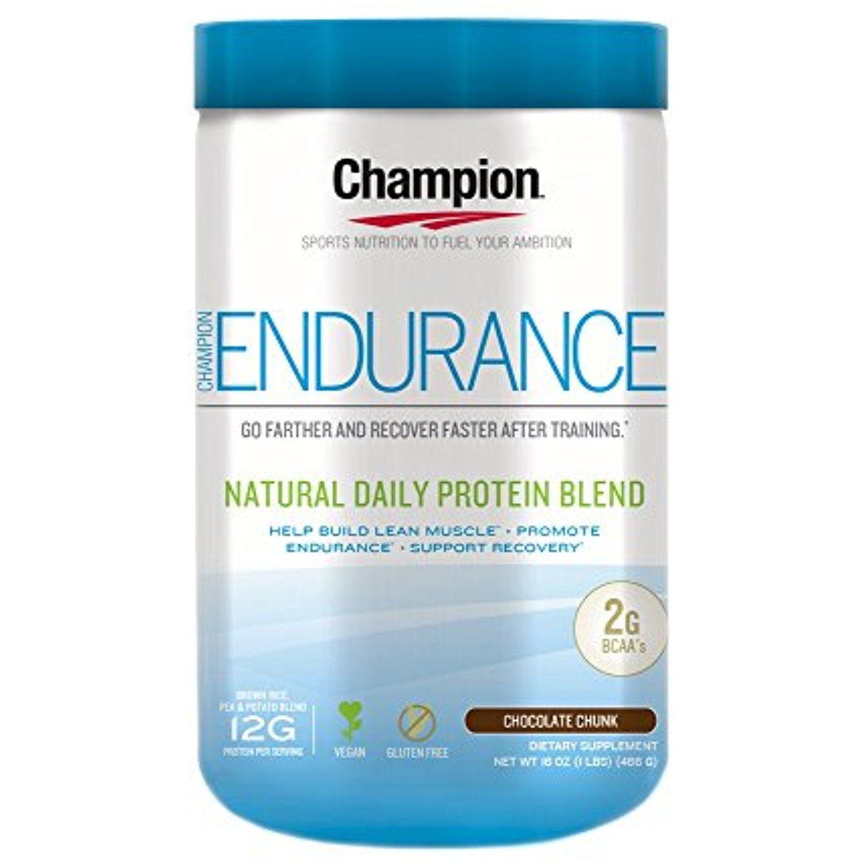 Champion Naturals Endurance Protein Powder, Chocolate, 1