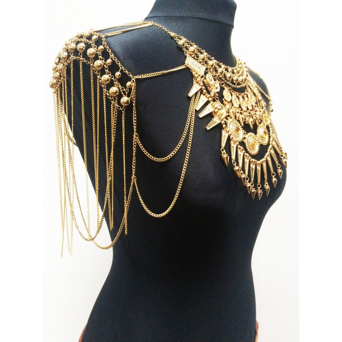 WE KOKO Fashion Gypsy Cape Gold Jewellery Shop Top Fashion