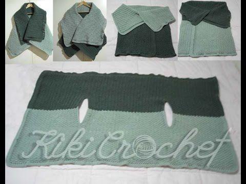 Crochet Easy Sleeveless Jacket (English Tutorial- pt1)