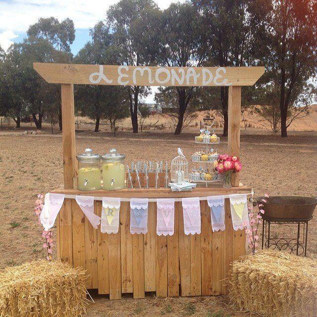 Lemonade stand for wedding