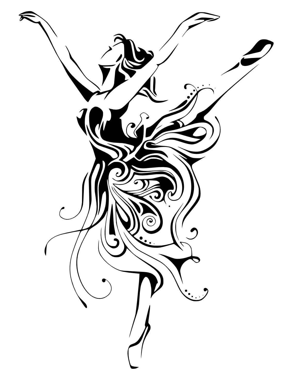 Ballerina female dancer free vector cdr download 3axis