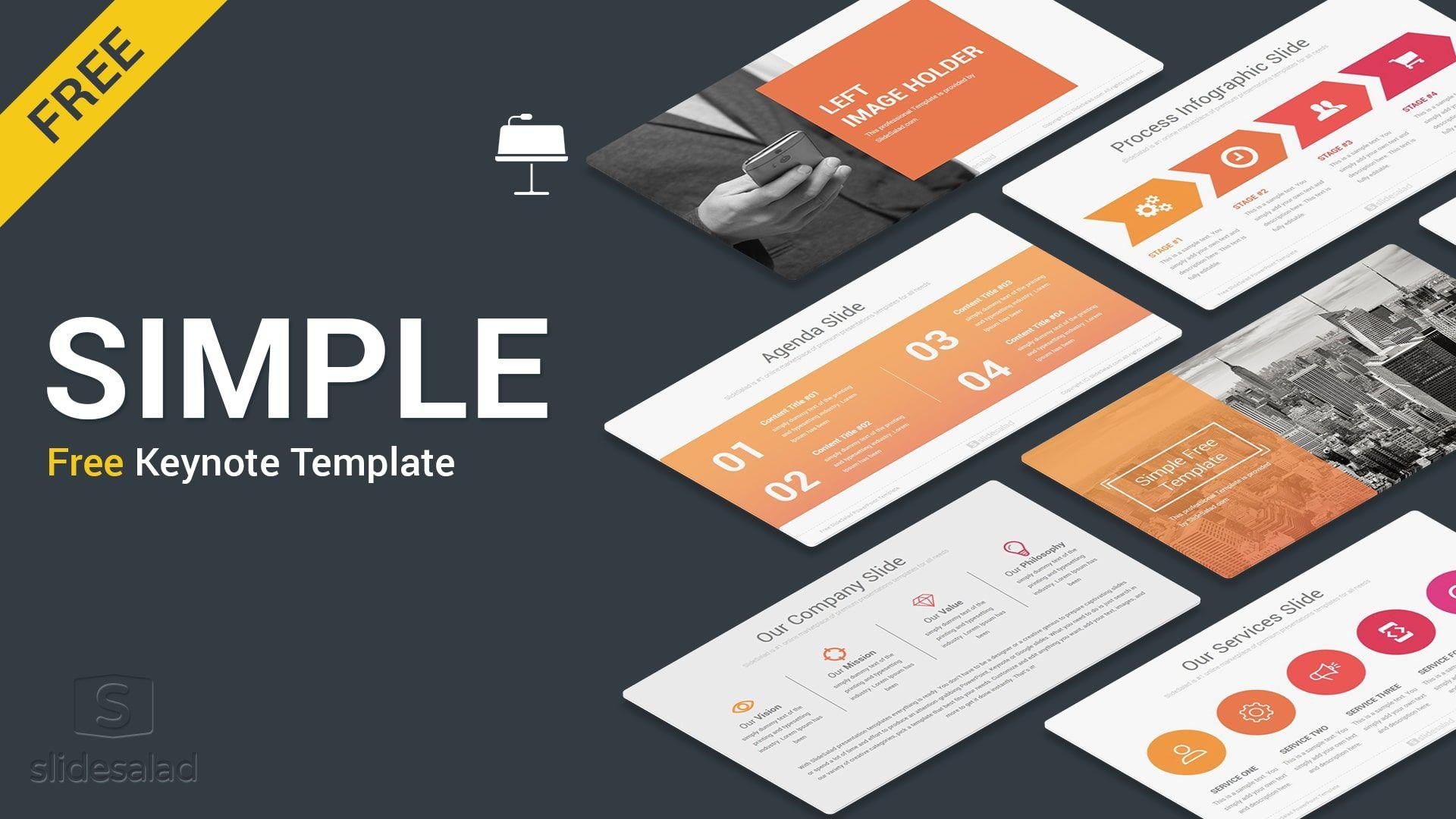 Simple Free Keynote Presentation Template Free Download