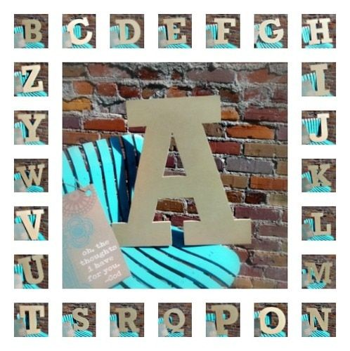 Unfinished Wooden Large Wall Letters Alphabet Letter
