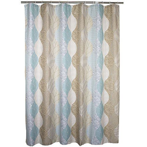 Amazon Ufaitheart Abstract Leaves Pattern Fashion Shower Curtain Fabric Stall 36 X 72 Inch For Bathroom Set Brown Beige And Turquoise