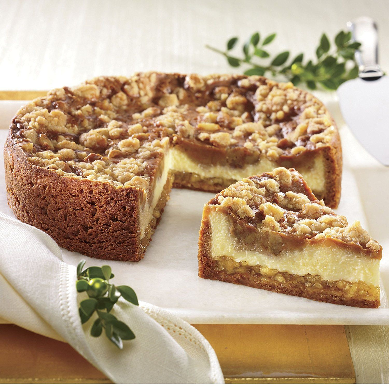 Caramel apple cheesecake from the swiss colony food