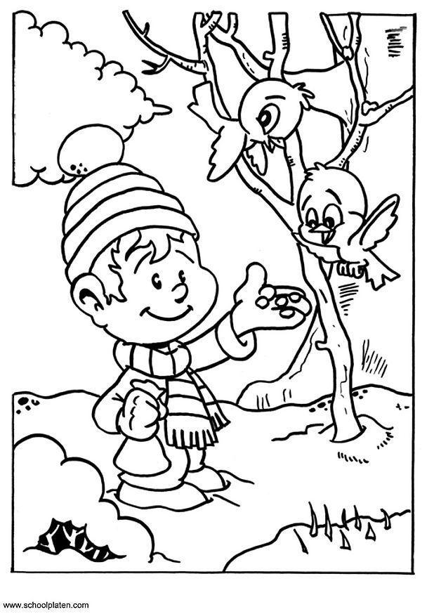 les oiseaux en hiver maternelle - Recherche Google