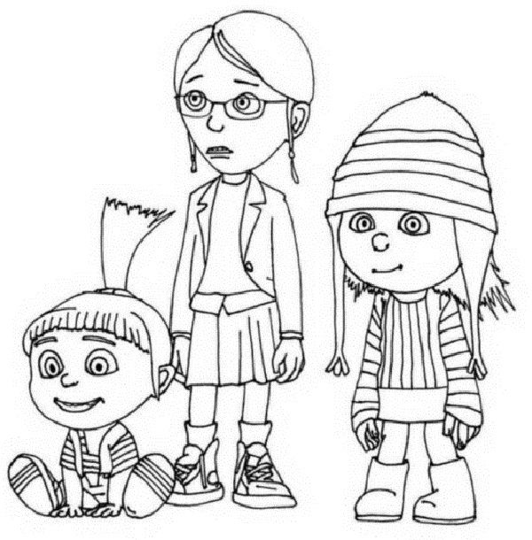 despicable me 2 margo coloring pages coloring kids Pinterest