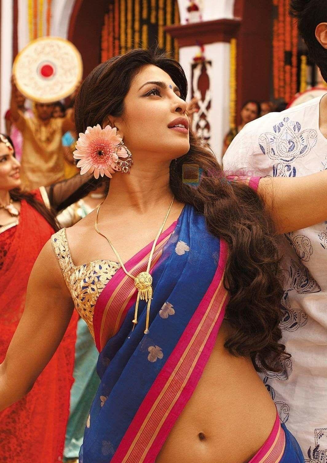 989711bda74319 Priyanka Chopra Hot, Deepika Padukone, Navel, Indian Dresses, Crochet  Earrings, Sari