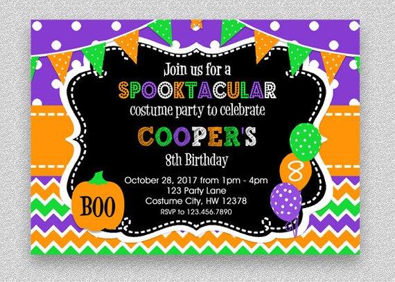 Halloween Birthday Invitation Kids Halloween Party Etsy Halloween Birthday Invitations Halloween Birthday Party Invitations Kids Halloween Birthday Party