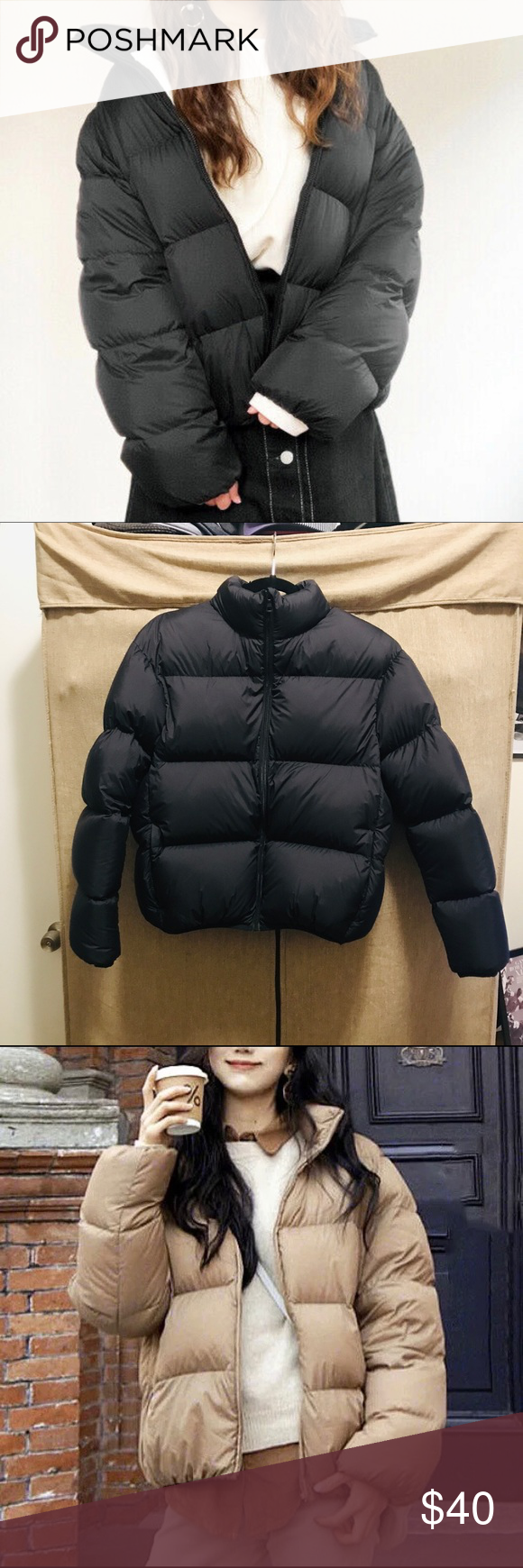 UNIQLO Black Ultra Down Light Volume Puffer Jacket In