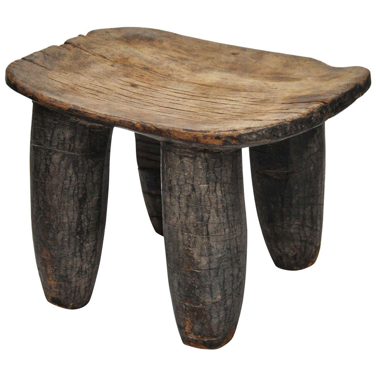 four-legged senufo african stool   holz, Wohnzimmer dekoo
