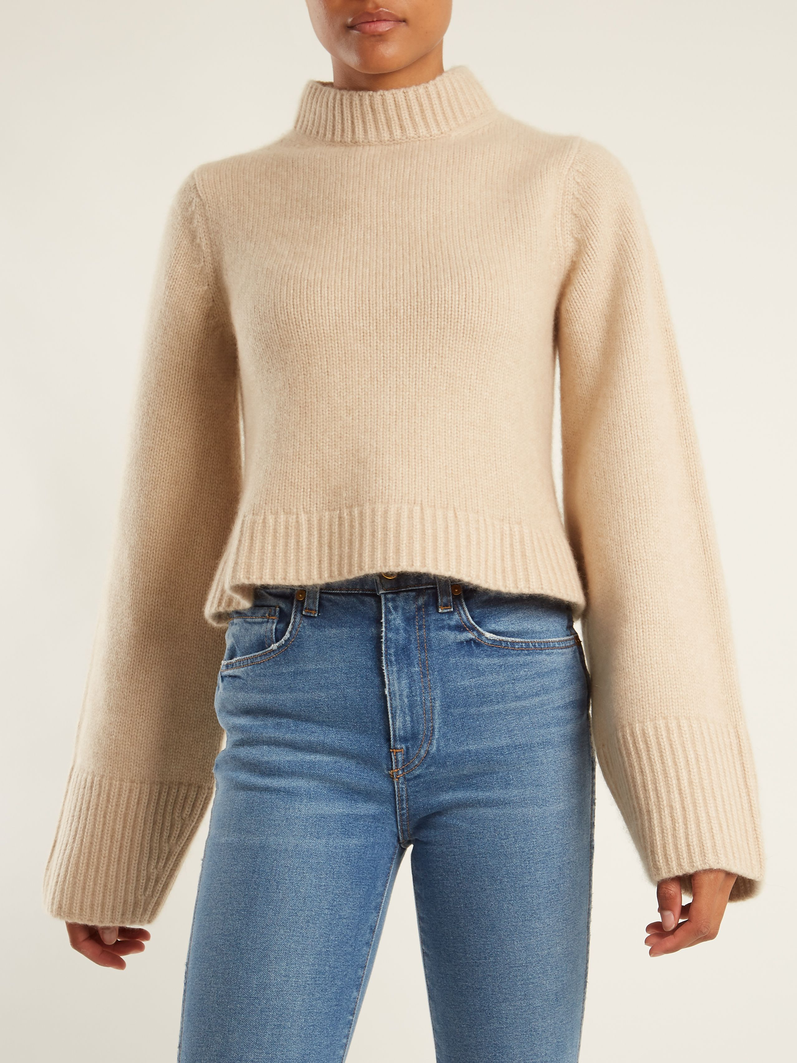 Click here to buy Khaite Mirren high-neck cashmere sweater at ...
