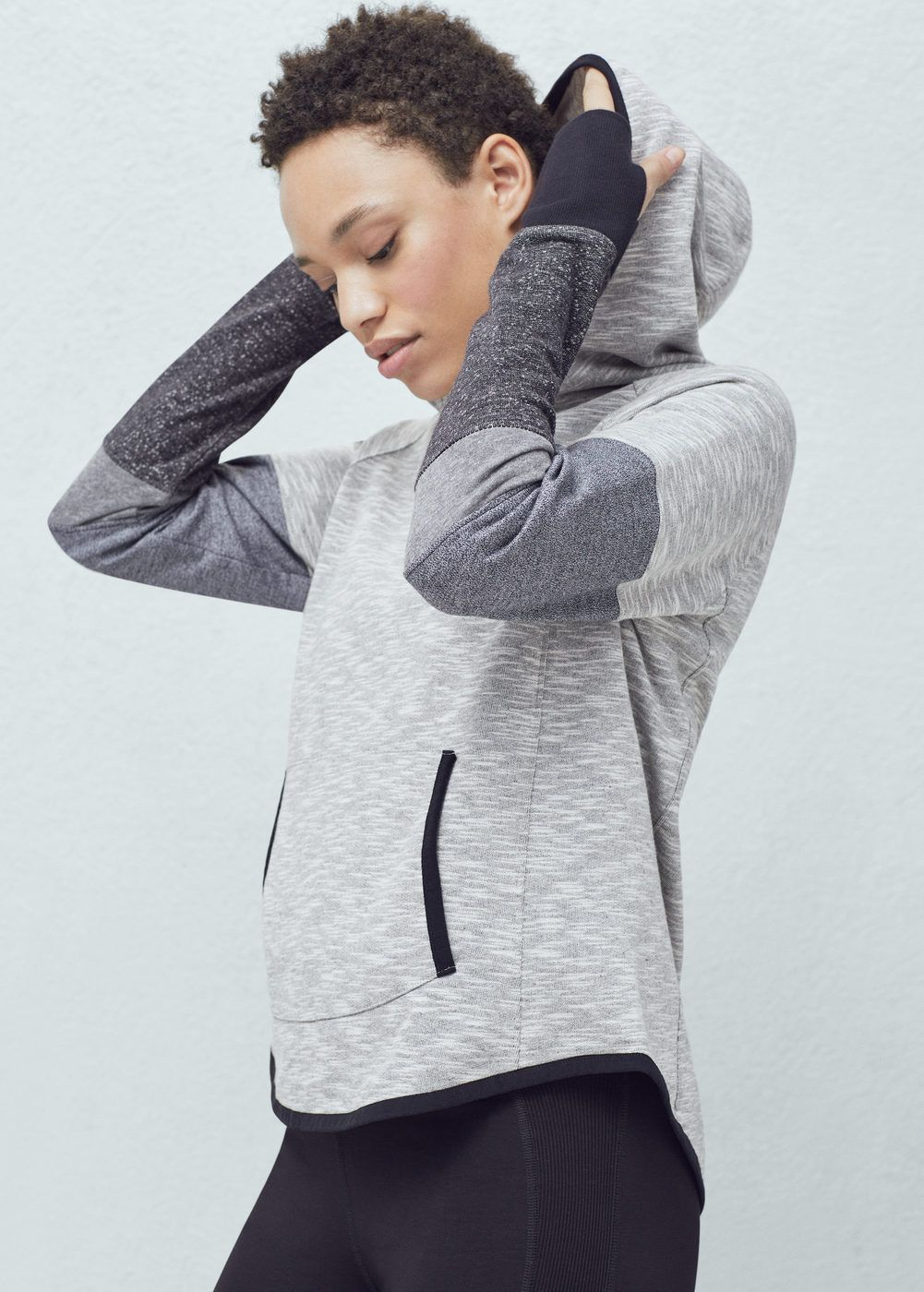 Kangaroo pocket training hoodie - Woman  e7f0c5ba458ff