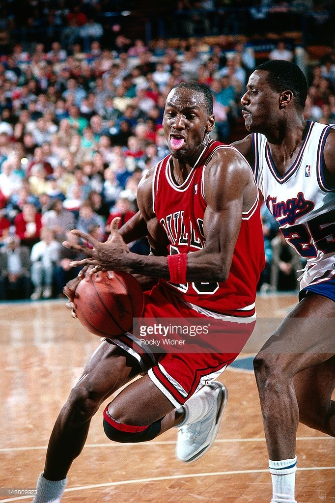 f0da47f9839 Michael Jordan #23 of the Chicago Bulls drives against the Sacramento Kings  during a game played on February 1, 1988 at the Arco Arena in Sacramento,  ...