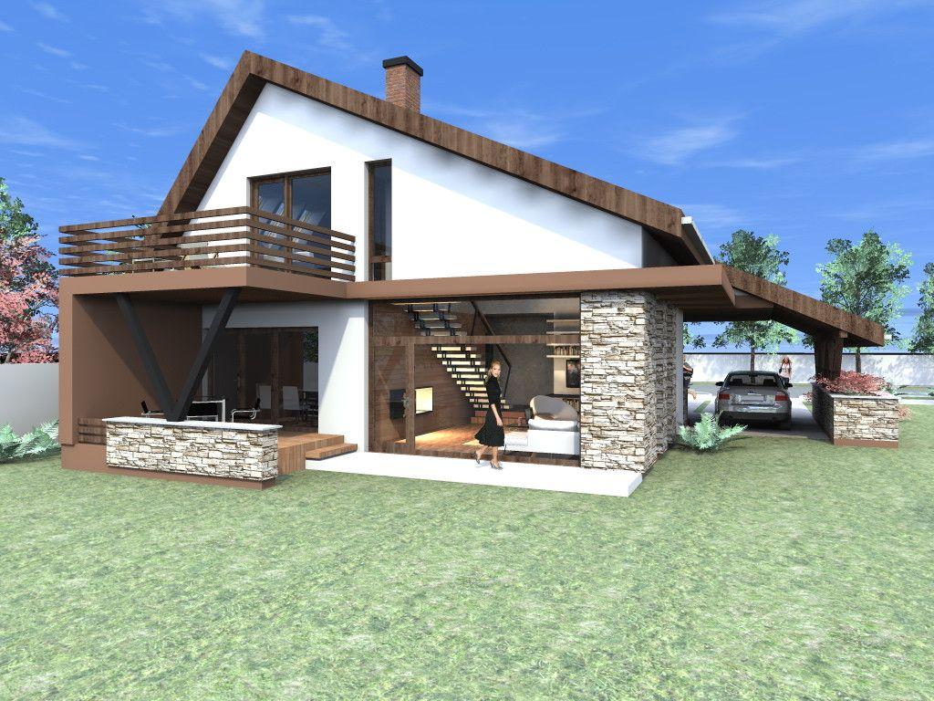 Proiect Casa Parter Si Mansarda Casa Nb 50 Proiecte Case Mobilier Con Proiecte De Case Mici Cu Garaj E Proiect Casa Parter Si Ma House Small House House Design